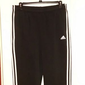 NWT MEN XL BLACK ADIDAS JOGGERS